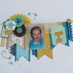 Adore the incorporating the photo in with the banner and embellies.....one of my favorite from Chloe:)