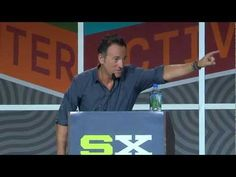 The Boss's SXSW keynote is well worth listening to. It's really a kind of musical history: he takes you step-by-step through his family tree of influences — Elvis, Roy Orbison, Phil Spector, The Beatles, The Animals, Punk Rock, Soul, Motown, Stax, Curtis Mayfield and The Impressions, James Brown, Dylan, Hank Williams, and finally, Woody Guthrie.