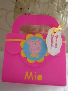 Peppa pig Pop-up birthday party invitation - set of baby shower, quinceanera, sweet sixteen 3rd Birthday Parties, Birthday Party Decorations, 2nd Birthday, Party Themes, Invitacion Peppa Pig, Cumple Peppa Pig, Peppa Pig Invitations, Birthday Party Invitations, Pig Party