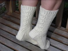 Ravelry: Saltkråkan pattern by Elina Norros Little River Band, Winter Socks, Socks And Heels, Pattern Library, Knitting Socks, Knit Socks, Yarn Colors, Cable Knit, Mittens