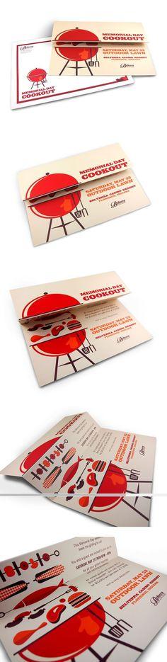 Memorial Day Cookout Invitation by Renee Griffin Flugblatt Design, Buch Design, Layout Design, Creative Design, Logo Design, Print Design, Corporate Design, Business Card Design, Creative Business Cards