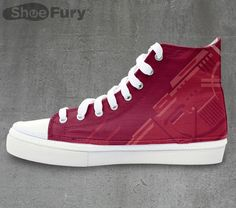 These Red Five High Top Sneakers Are Standing By