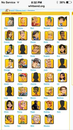 Characters from adventures In odyssey