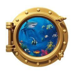 12 Portscape Instant Sea Window Ocean Life 1 by StickitGraphix, $9.99