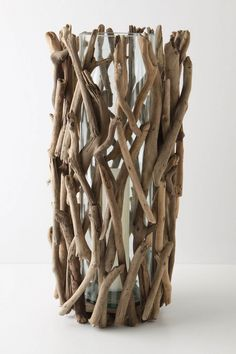 anthro driftwood candle holder - to make on the next beach trip.