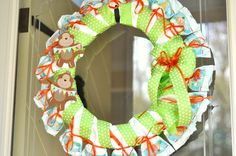 Diaper wreath- perfect decoration for your hospital door!