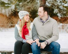 pop in winter! engagement photos by staceyhedman.com