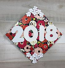 Hats off to this fun idea! Get with the trend and decorate high school or college graduation caps using Dollar Tree supplies. Graduation Cap Decoration, Graduation Caps, Graduation Celebration, Christmas Decorations, Holiday Decor, Dollar Tree, Christmas Stockings, Childhood, Diy Projects
