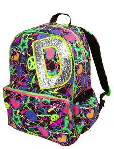Glitter Graffiti Initial Backpack | Girls Backpacks Backpacks & School Supplies | Shop Justice