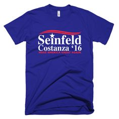 Sick and tired of the 2016 presidential candidates? Or maybe you heartily endorse one of the candidates but also have a sense of humor? Our Seinfeld Costanza 2016 Make America Great Again T-Shirt is a