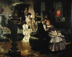 artandopinion:  The Conversation Piece Solomon Joseph Solomon  1884 England, Leighton House Museum