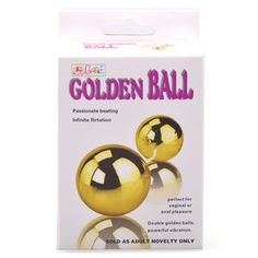 Golden Balls | Vibrating Eggs & Balls | Buy Sex Toys Online - Love Wing UK Double Golden Vibrating Balls, perfect for vaginal or anal pleasure. Insert this toy, turn on the vibrations and experience orgasmic sensations throughout your body. You can smoothly adjust the vibration speed from teasingly slow to super-fast by turning the speed control dial. You can decide how long the foreplay will last and that you decide when you're ready to have a mind-blowing orgasm.