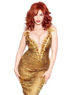 Christina Hendricks looking jaw-droppingly gorgeous as usual.