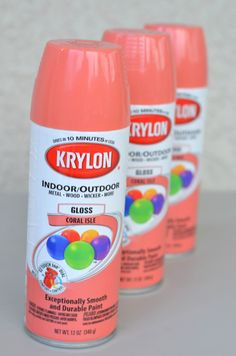 spray paint makeover | krylon coral isle