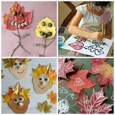 Fall is such a fun time to create! Loving these gorgeous leaf crafts.