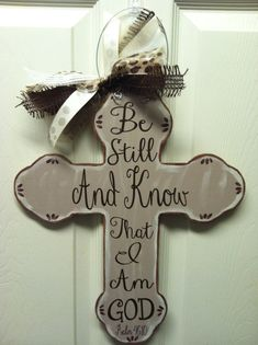 Wooden+Cross+Door+Hanger+by+SewStickyDesigns+on+Etsy,+$25.00