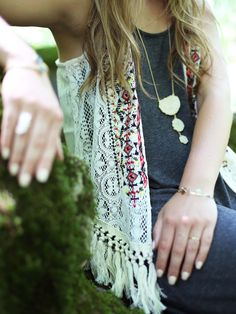 Love the embroidered details in this Altar'd State Tribal Lovin' Vest