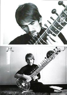 George Harrison - George's sitar playing on The Beatles' Norwegian Wood saw him the first Western musician to use the instrument. Rock And Roll Bands, Rock Bands, Rock N Roll, George Harrison, The Quiet Ones, Music Pics, The Fab Four, Light Of The World, The Clash