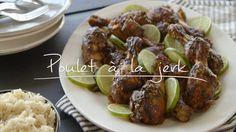 Poulet à la jerk Quebec, Doritos, Kfc, Baked Potato, Sausage, Chicken Recipes, Good Food, Low Carb, Turkey