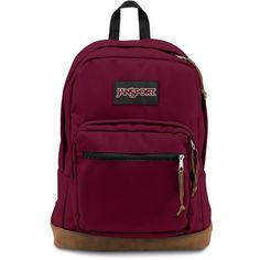 Men's Jansport 'Right Pack' Backpack ($60) ❤ liked on Polyvore featuring men's fashion, men's bags, men's backpacks, russet red and mens backpack