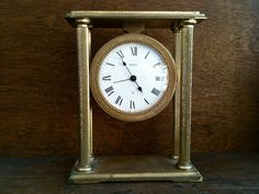 Vintage French Dial Brass Clock Purchase in store here http://www.europeanvintageemporium.com/product/vintage-french-dial-brass-clock/