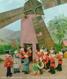 The crew from Camberwick Green. i used to fear for Windy Miller's head every time he went in or out.