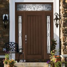 Classic style plastpro fiberglass double entry doors model for Home decor 91711