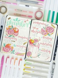 alisha's journal — one of my favourite colour schemes This was the. alisha's journal — one of my favourite colour schemes This was the. Bullet Journal Page, Bullet Journal Headers, Bullet Journal Notebook, Bullet Journal Themes, Bullet Journal Spread, Bullet Journal Inspiration, Journal Ideas, Bullet Journals, Bullet Journal Workout