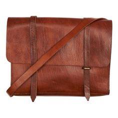 Arthur Leather Messenger Bag (2,885 MXN) ❤ liked on Polyvore featuring bags, messenger bags, leather courier bag, leather satchel, laptop messenger bags, laptop satchel and leather satchel messenger bag