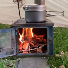 Tent Wood Stove (Titanium) for Backpacking