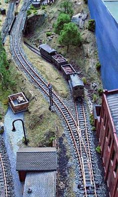 Gum Stump in N. A classical track plan offering challenging scenery and interesting operation. If one wants to keep the layout small, it is a perfect plan for industrial narrow gauge in any scale, the challenge being the steep pass between the two levels.