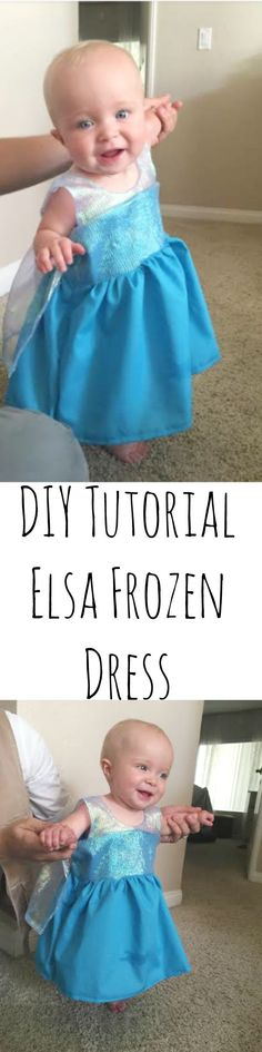 Elsa Dress Sewing Tutorial - this is a quick and easy sew!  Easy DIY that is FREE - COSTS under $8 to make!
