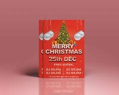 Freebies : Download A6 Christmas Party Flyer Template Photoshop (PSD) template free. Download : http://www.gsjha.com/a6-christmas-party-flyer-template/