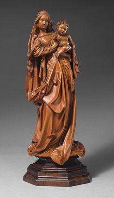 Attributed to Nikolaus Gerhaert von Leiden  (Vienna):  Standing Virgin and Child  (ca. 1470, Metropolitan Museum of Art, New York)