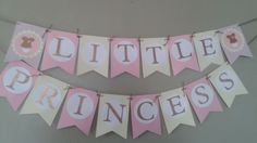 Little Princess Baby shower banner by christinaspot on Etsy https://www.etsy.com/listing/209811401/little-princess-baby-shower-banner