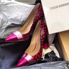Someone snapped up an amazing bargain from @Annette Nokes-A-PORTER.COM . Our latest sale obsession is these divine #nicholaskirkwood pumps.