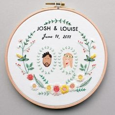 "135 mentions J'aime, 7 commentaires - Mirka Döring (@mircat.embroidery) sur Instagram : ""Yay! The customizable #weddinghoop is finally in the shops. """