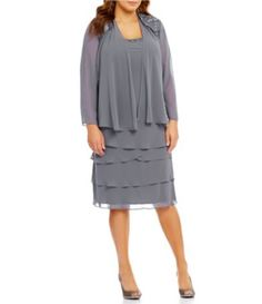 Shop for S.L. Fashions Plus Lace-Shoulder Chiffon Jacket Dress at Dillards.com. Visit Dillards.com to find clothing, accessories, shoes, cosmetics & more. The Style of Your Life.