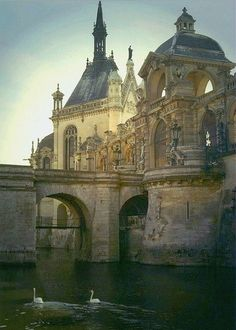Chateau de Chantilly, France - Chantilly is a commune in the Oise department in the valley of the Nonette in the Hauts-de-France region of northern France. Surrounded by Chantilly Forest, the town of 11,000 inhabitants falls within the metropolitan area of Paris.