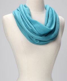 Take a look at this Turquoise Wool Infinity Scarf by Portolano on #zulily today!