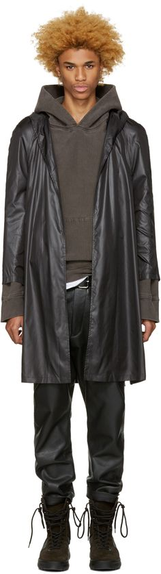 A-Cold-Wall*: Black Nylon Raincoat | SSENSE