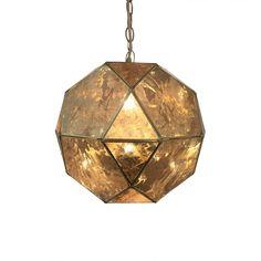 Armstrong Lámpara de Techo de Latón y Espejo - Dorado