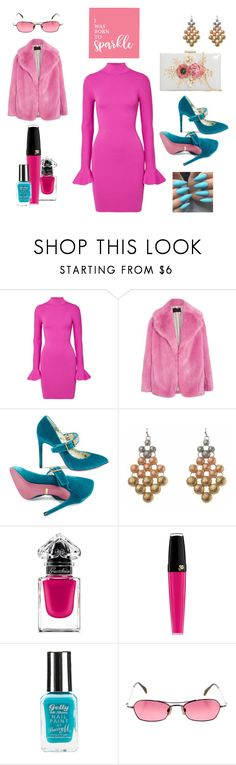 """""""Pink Lady"""" by angieberrys on Polyvore featuring MICHAEL Michael Kors, J.Crew, Gucci, Guerlain, Lancôme, Barry M and Dita"""
