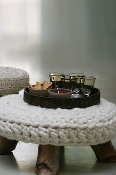 Knitted Stool Cover, Great Knitted Furniture And Decor Concepts