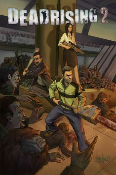 ArtStation - Dead Rising 2 Cover For Comic. Corporate Design, Video Game Art, Video Games, Dead Rising 2, Dead Space, I Am Game, Rwby, Picture Video, Geek Stuff