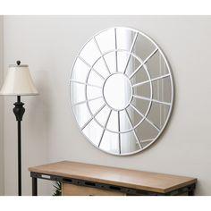 Abbyson Spectrum Round Wall Mirror (Spectrum), Silver