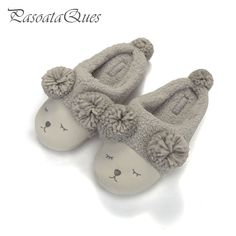 425388744 Big Size 6 10 Cute Sheep Animal Women Home Slippers For Girls Ladies Indoor  Bedroom Cotton Female Shoes Winter Soft Bottom Flats-in Slippers from Shoes  on ...