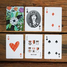 Illustrated Playing Cards   1Canoe2