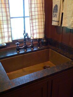 Copper under mount sinks made in the USA by Rachiele