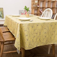 VULK Homes kitchen restaurant Garden fresh mixed/Jacquard tablecloth/table cloth , Yellow , 137220cm Tablecloth